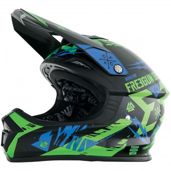 Casque Cross Freegun XP-4 Trooper Neon Green Blue