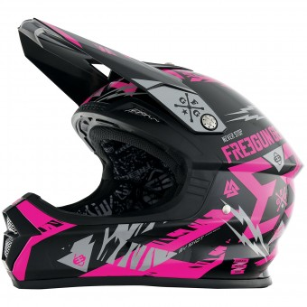 Casque Cross Freegun XP-4 Trooper Neon Pink Grey