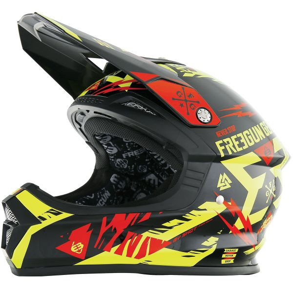 Casque Cross Freegun XP-4 Trooper Neon Yellow Red