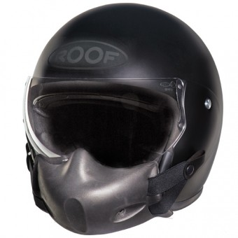 Casque Jet Roof Roadster + pilot mask noir mat
