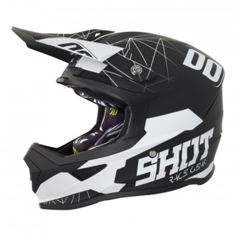 Casque Enfant SHOT Furious Spectre Black White Enfant