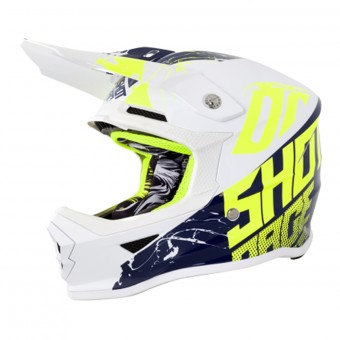 Casque Enfant SHOT Furious Venom White Blue Neon Yellow Enfant