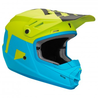 Casque Enfant Thor Sector Level Electric Blue Lime Enfant