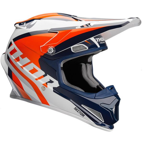 Casque Enfant Thor Sector Ricochet Navy Orange White Enfant