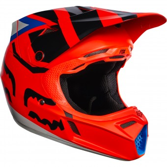 Casque Enfant FOX V3 Creo Orange Enfant 009