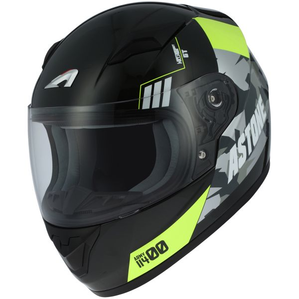 Casque Enfant Astone GT2 Kids Army Black Yellow