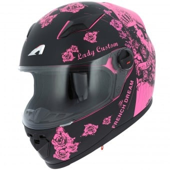 Casque Enfant Astone GT2 Kids Lady Custom Black Pink