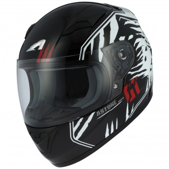 Casque Enfant Astone GT2 Kids Predator Black White