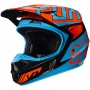 Casque Enfant FOX V1 Falcon Black Orange Enfant 016