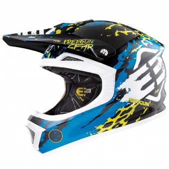 Casque Enfant Freegun XP-4 Beast Blue Lime Enfant