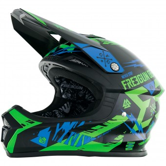 Casque Enfant Freegun XP-4 Trooper Neon Green Blue Enfant
