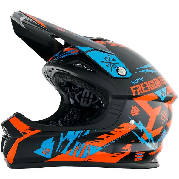 Casque Enfant Freegun XP-4 Trooper Neon Orange Cyan Enfant