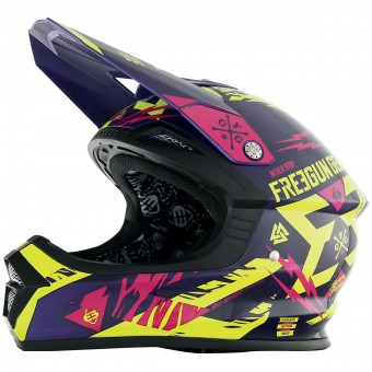 Casque Enfant Freegun XP-4 Trooper Neon Yellow Magenta Enfant