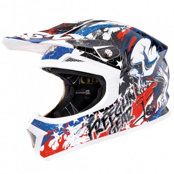Casque Enfant Freegun XP-4 US White Red Enfant