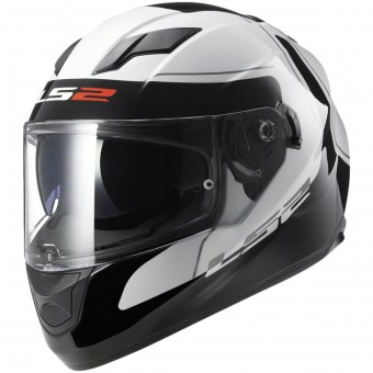 Casque Integral LS2 Stream Lunar Black White FF320