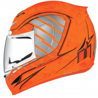 Casque Integral ICON Airmada Volare Hi-Viz Orange