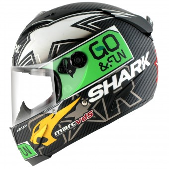 Casque Integral Shark Race-R PRO Carbon Redding Dual Touch DGY