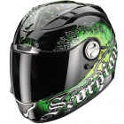 Casque Integral Scorpion EXO 1000 Air E11 Darkness Noir Vert