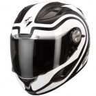 Casque Integral Scorpion EXO 1000 Air E11 Round-Up Blanc Noir Mat
