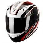 Casque Integral Scorpion EXO 2000 Air Performer Blanc Nacre Noir Rouge