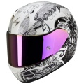 Casque moto Scorpion EXO 410 Air Orchid Blanc Nacre