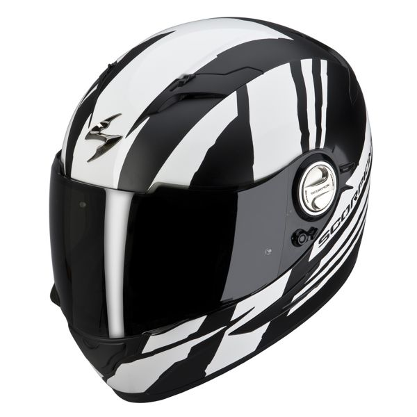 Casque Integral Scorpion EXO 500 Air Thunder Blanc Noir Mat