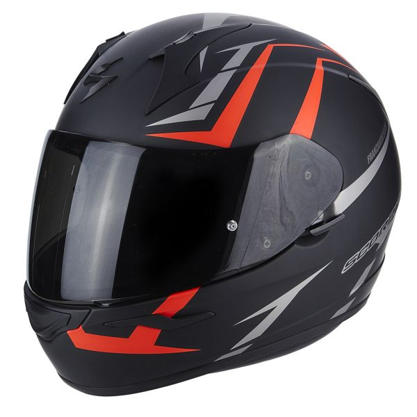Casque Integral Scorpion Exo 390 Hawk Matt Black Neon Red
