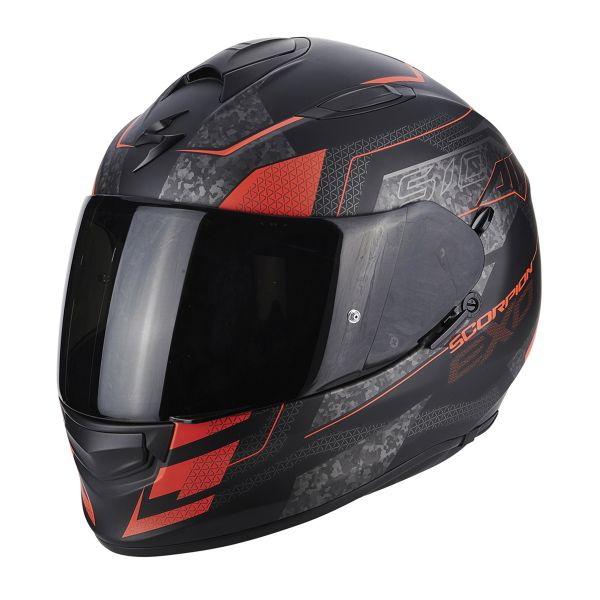 Casque Integral Scorpion Exo 510 Air Galva Matt Black Neon Red