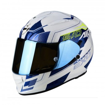 Casque Integral Scorpion Exo 510 Air Galva Pearl White Blue