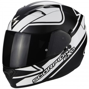 Casque Integral Scorpion EXO 1200 Air Freeway Noir Blanc Mat