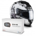 Casque Integral HJC IS17 Barbwire MC31 + Kit Bluetooth Sena SMH5 Solo