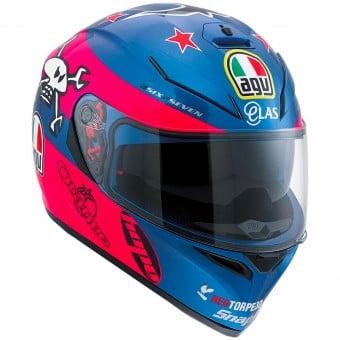 Casque Integral AGV K3 SV Replica Guy Martin Pink