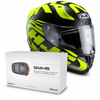 Casque Integral HJC RPHA 11 Eridano MC4HSF + Kit Bluetooth Sena SMH5 Solo