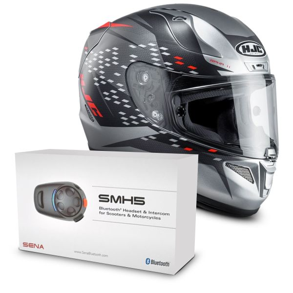 Casque Integral HJC RPHA 11 Oraiser MC5SF + Kit Bluetooth Sena SMH5 Solo