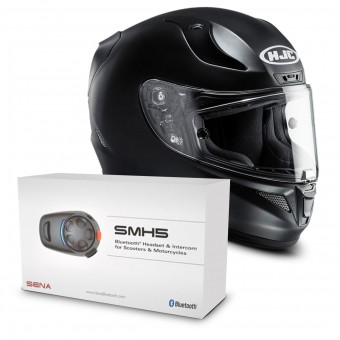 Casque Integral HJC RPHA 11 Semi Flat Black + Kit Bluetooth Sena SMH5 Solo