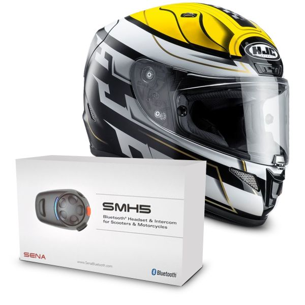 Casque Integral HJC RPHA 11 Skyrym MC3 + Kit Bluetooth Sena SMH5 Solo