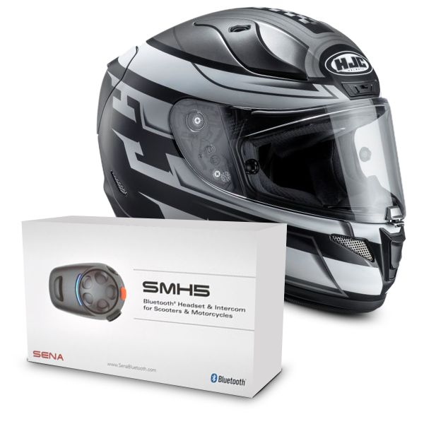 Casque Integral HJC RPHA 11 Skyrym MC5SF + Kit Bluetooth Sena SMH5 Solo