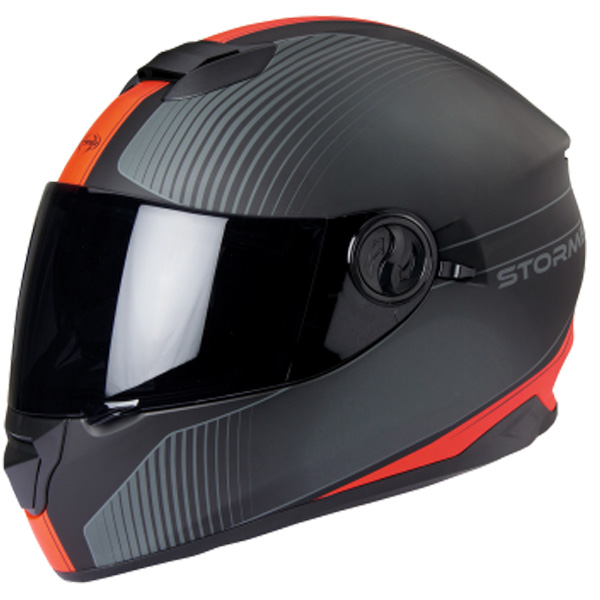 Casque Integral Stormer Versus Neon Orange Mat