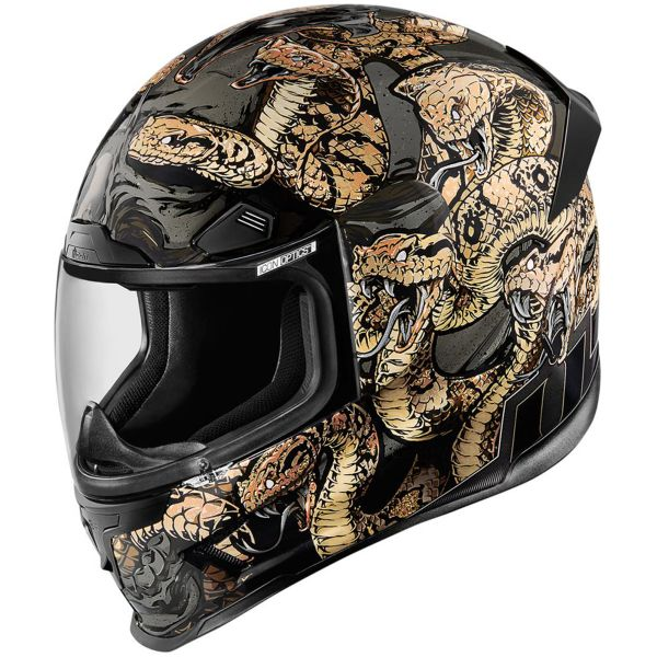 Casque Integral ICON Airframe Pro Cottonmouth Gold