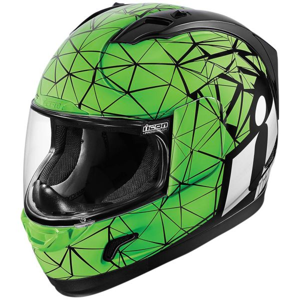 Casque Integral ICON Alliance Crysmatic Green