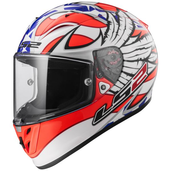 Casque Integral LS2 Arrow R Evo Freedom White Orange FF323