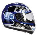 Casque moto Torx Billy Bleu