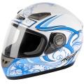 Casque moto Nitro Dynamo Junior Blanc Bleu