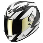 Casque Integral Scorpion EXO 1000 Air E11 Twister Noir Mat Blanc