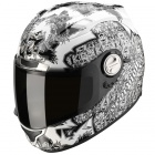 Casque Integral Scorpion EXO 1000 Air E11 Fantasia Blanc Argent