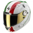 Casque Integral Scorpion EXO 1000 Air E11 High-Impact Blanc Vert Rouge