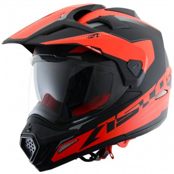 Casque Integral Astone Cross Tourer Adventure Matt Black Red