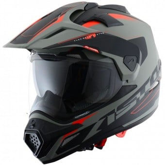 Casque Integral Astone Cross Tourer Adventure Matt Grey Black