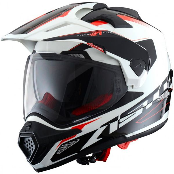 Casque Integral Astone Cross Tourer Adventure White Black