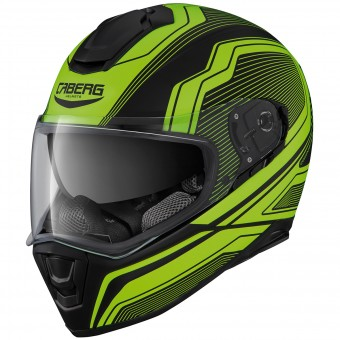 Casque Integral Caberg Drift Flux Matt Black Yellow Fluo